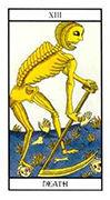 Death Tarot card in Angel Tarot deck