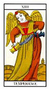 Temperance Tarot card in Angel Tarot deck