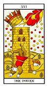 The Tower Tarot card in Angel Tarot deck