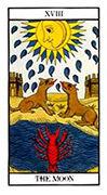 The Moon Tarot card in Angel Tarot deck