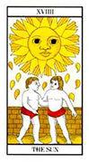 The Sun Tarot card in Angel Tarot deck