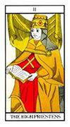 The High Priestess Tarot card in Angel Tarot deck