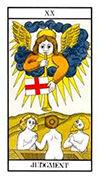 Judgement Tarot card in Angel Tarot deck