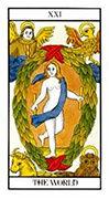 The World Tarot card in Angel Tarot deck