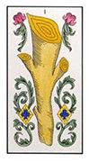 Ace of Wands Tarot card in Angel Tarot Tarot deck