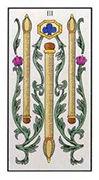 Three of Wands Tarot card in Angel Tarot Tarot deck