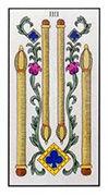 Four of Wands Tarot card in Angel Tarot deck