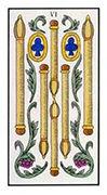 Six of Wands Tarot card in Angel Tarot deck