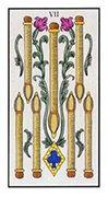 Seven of Wands Tarot card in Angel Tarot deck