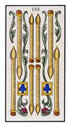 Eight of Wands Tarot card in Angel Tarot deck