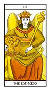 The Empress Tarot card in Angel Tarot deck