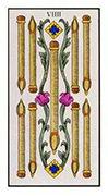Nine of Wands Tarot card in Angel Tarot deck