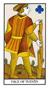 Page of Wands Tarot card in Angel Tarot deck