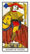 Knight of Wands Tarot card in Angel Tarot deck