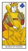 Queen of Wands Tarot card in Angel Tarot deck