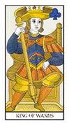 King of Wands Tarot card in Angel Tarot deck