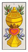 Ace of Cups Tarot card in Angel Tarot deck