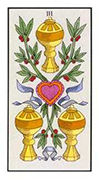 Three of Cups Tarot card in Angel Tarot deck