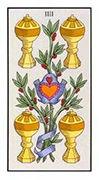Four of Cups Tarot card in Angel Tarot deck