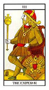 The Emperor Tarot card in Angel Tarot deck