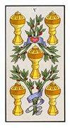 Five of Cups Tarot card in Angel Tarot deck