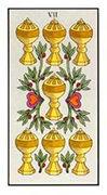Seven of Cups Tarot card in Angel Tarot deck
