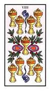 Nine of Cups Tarot card in Angel Tarot deck