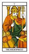 The Hierophant Tarot card in Angel Tarot deck