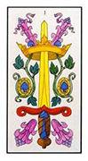 Ace of Swords Tarot card in Angel Tarot deck