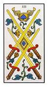 Four of Swords Tarot card in Angel Tarot deck