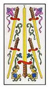 Five of Swords Tarot card in Angel Tarot deck