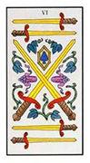 Six of Swords Tarot card in Angel Tarot deck