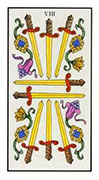 Eight of Swords Tarot card in Angel Tarot deck