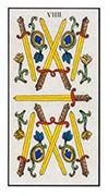 Nine of Swords Tarot card in Angel Tarot deck