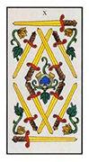 Ten of Swords Tarot card in Angel Tarot deck