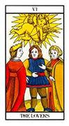 The Lovers Tarot card in Angel Tarot deck