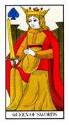 Queen of Swords Tarot card in Angel Tarot deck