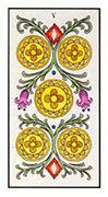 Five of Pentacles Tarot card in Angel Tarot deck