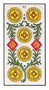 Six of Pentacles Tarot card in Angel Tarot deck