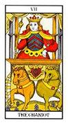 The Chariot Tarot card in Angel Tarot deck