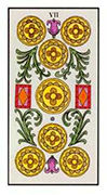 Seven of Pentacles Tarot card in Angel Tarot deck