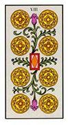 Eight of Pentacles Tarot card in Angel Tarot deck