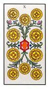 Ten of Pentacles Tarot card in Angel Tarot deck