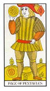 Page of Pentacles Tarot card in Angel Tarot deck