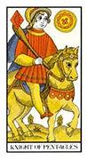 Knight of Pentacles Tarot card in Angel Tarot deck