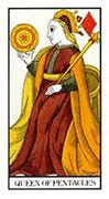 Queen of Pentacles Tarot card in Angel Tarot deck