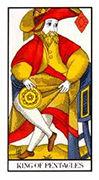 King of Pentacles Tarot card in Angel Tarot deck