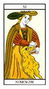 Strength Tarot card in Angel Tarot deck