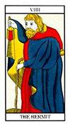 The Hermit Tarot card in Angel Tarot deck