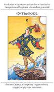 The Fool Tarot card in Apprentice deck